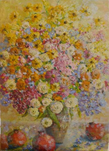 Цветы и гранаты