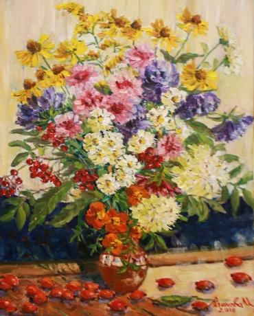 Цветы и шиповник